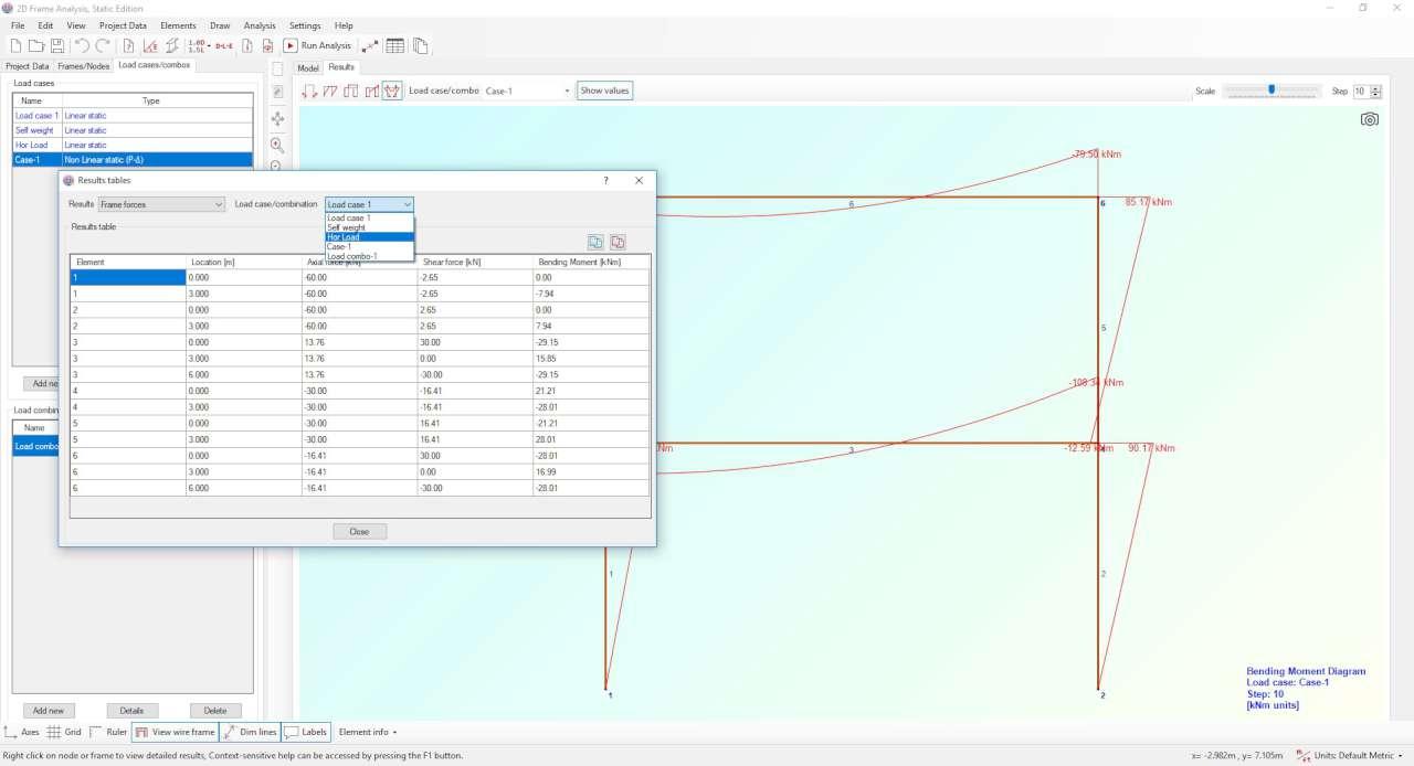 Tabular representation of resutls, exportable to Excel