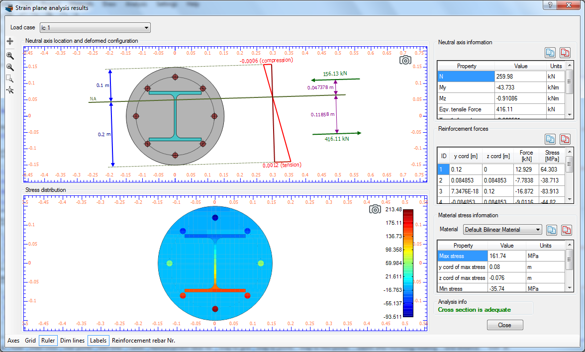Software for the Analysis and Design of structural cross
