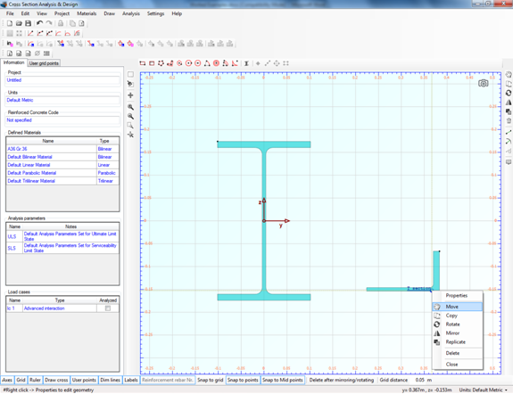 Placing tee section next to W section web