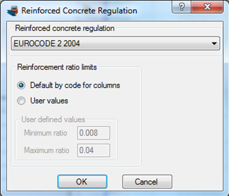 Selection of reinforced concrete regulation