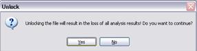 Unlock model confirmation