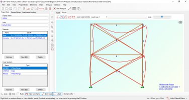 2D Frame Analysis Static Edition is available