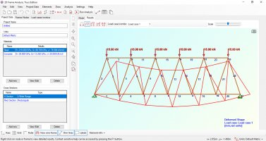 2D Truss Analysis is available